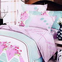 Crystal Cherry, 100% Cotton 4PC Duvet Cover Set (King Size)
